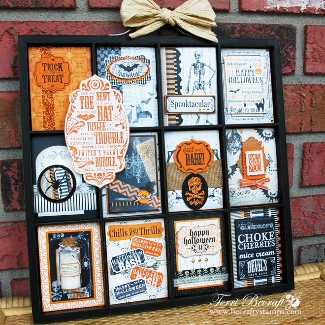 Halloween Altered Printer's Tray Becrafty Stamps