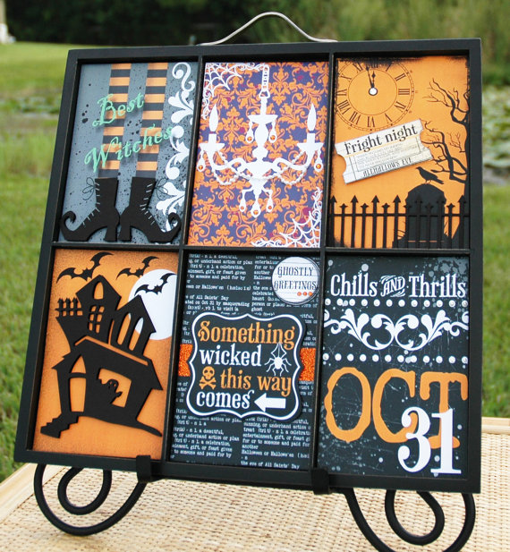 Halloween Printer's Trays by Becrafty Stamps featured on Handmadeology