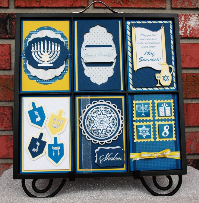 Hanukkah Tray available at BecraftyStamps Etsy Shop