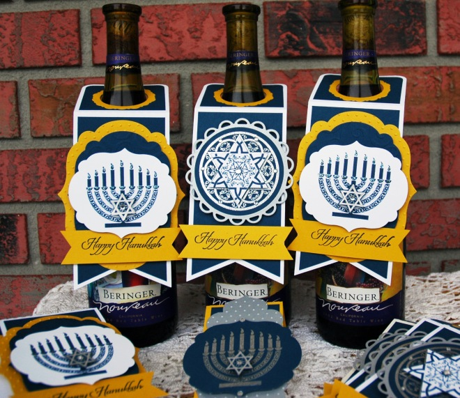 Hanukkah Wine Tags | Bottle Tags